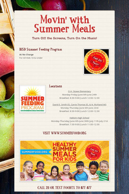 Movin' with Summer Meals