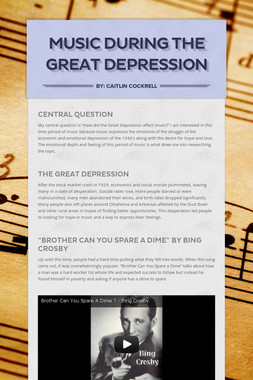 Music During The Great Depression