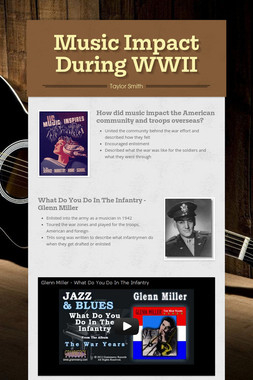 Music Impact During WWII