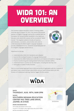 WIDA 101: An Overview