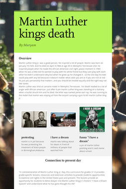 Martin Luther kings death