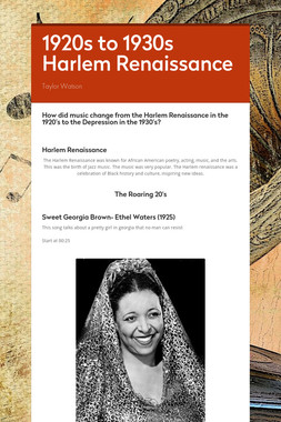 1920s to 1930s Harlem Renaissance