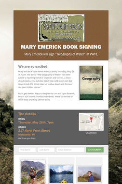 Mary Emerick Book Signing