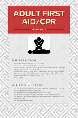 Adult First Aid/CPR