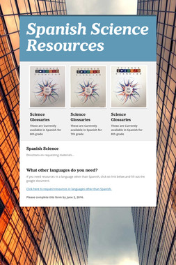 Spanish Science Resources