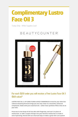 Complimentary Lustro Face Oil 3