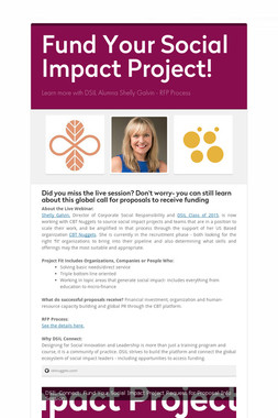 Fund Your Social Impact Project!