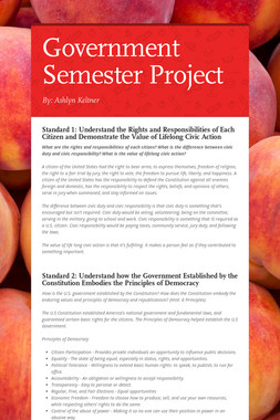 Government Semester Project