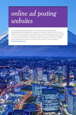 online ad posting websites