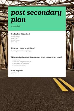 post secondary plan