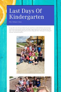 Last Days Of Kindergarten
