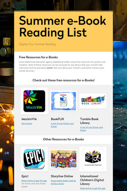 Summer e-Book Reading List