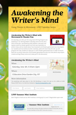 Awakening the Writer's Mind