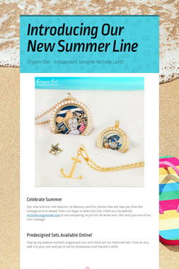 Introducing Our New Summer Line