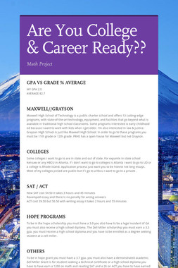 Are You College & Career Ready??