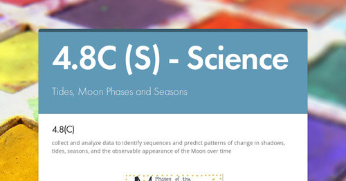 4 8C (S) - Science   Smore Newsletters for Education