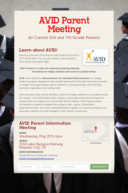AVID Parent Meeting
