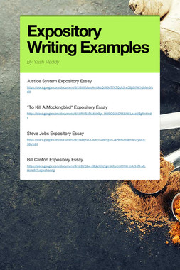 Expository Writing Examples