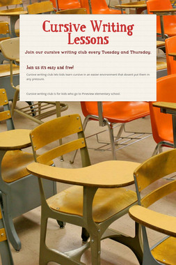 Cursive Writing Lessons