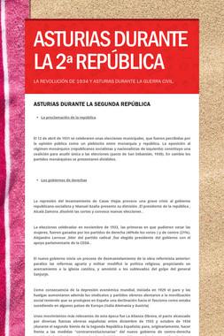 ASTURIAS DURANTE LA 2ª REPÚBLICA