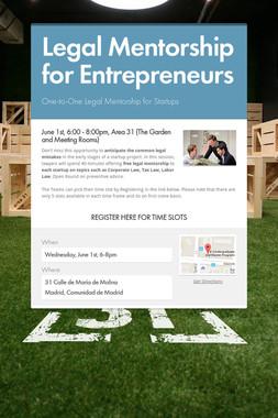Legal Mentorship for Entrepreneurs