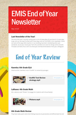 EMIS End of Year Newsletter