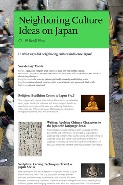 Neighboring Culture Ideas on Japan