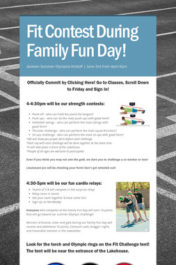 Fit Contest During Family Fun Day!