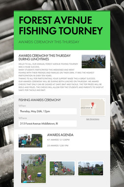 FOREST AVENUE FISHING TOURNEY