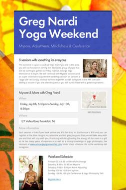Greg Nardi Yoga Weekend