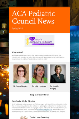 ACA Pediatric Council News
