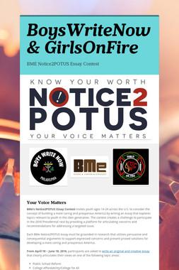 BoysWriteNow & GirlsOnFire