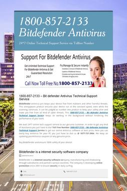 1800-857-2133 Bitdefender Antivirus