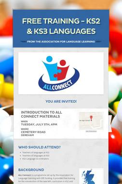 Free training - KS2 & KS3 languages