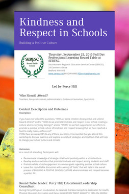 Kindness and Respect in Schools