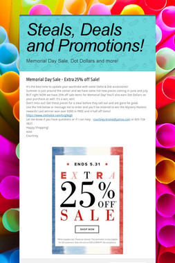 Steals, Deals and Promotions!