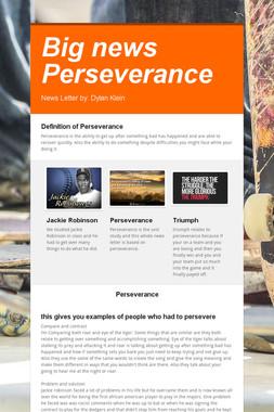Big news Perseverance