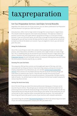 taxpreparation
