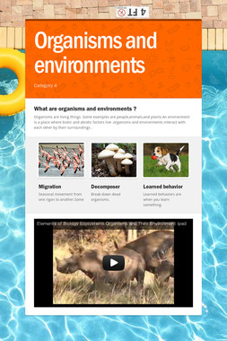 Organisms and environments