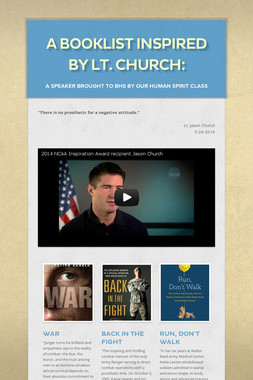 A booklist inspired by Lt. Church: