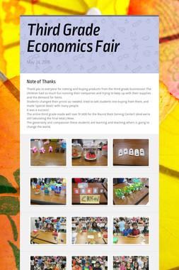 Third Grade Economics Fair