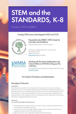 STEM and the STANDARDS, K-8