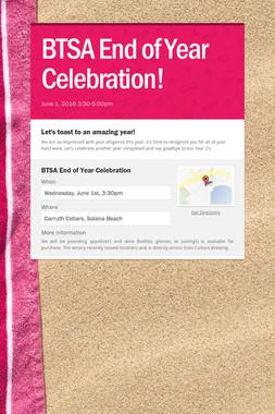 BTSA End of Year Celebration!