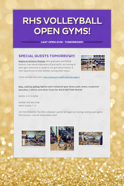 RHS VOLLEYBALL OPEN GYMS!