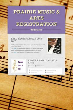 Prairie Music & Arts Registration