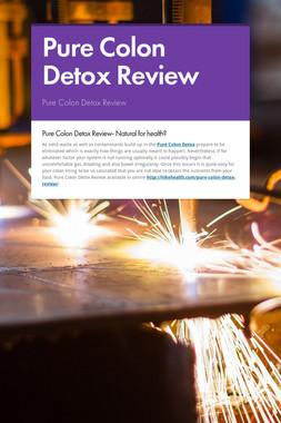 Pure Colon Detox Review