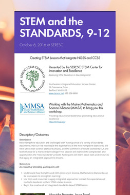STEM and the STANDARDS, 9-12