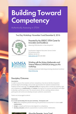 Building Toward Competency