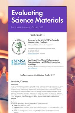 Evaluating Science Materials