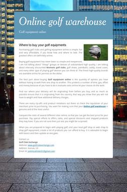 Online golf warehouse